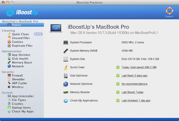 iBoostUp mac Optimizar tu computadora con estos programas