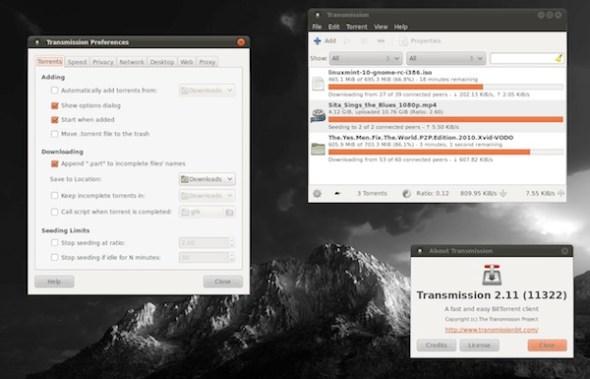 Transmission, un excelente cliente para torrents en Mac y Linux