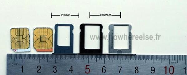 Se muestra la nueva bandeja Nano SIM del nuevo iPhone (5)
