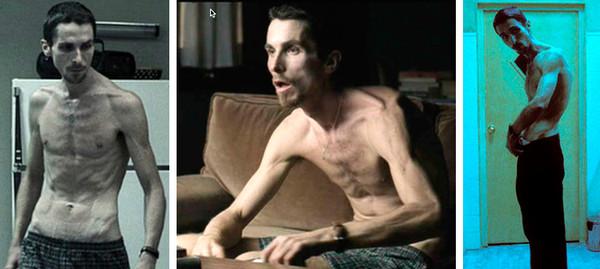 the machinist La transformación de Christian Bale a través de los años