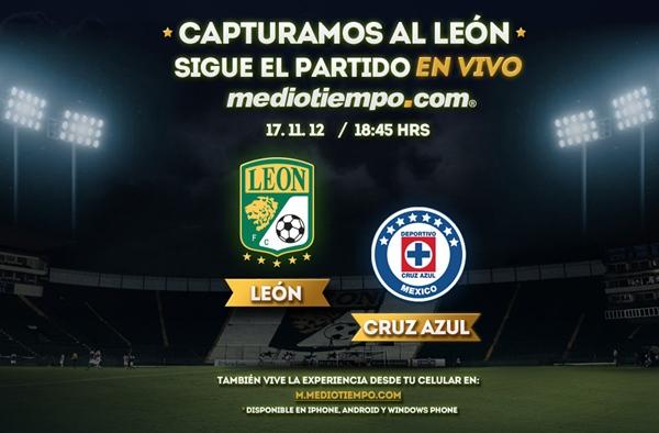 leon cruz azul en vivo cuartos de final apertura 2012 León vs Cruz Azul en vivo, Cuartos de Final Apertura 2012 (Liga MX)