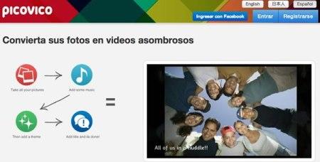 Crea videos con tus fotos gracias a Picovico