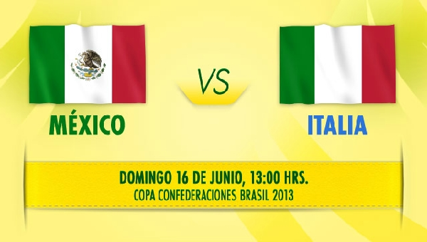 mexico italia en vivo copa confederaciones 2013 México vs Italia en vivo por Televisa Deportes, Copa Confederaciones 2013