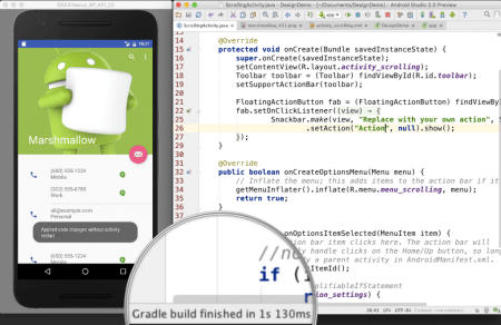 Crea apps al doble de rápido con Android Studio 2.0
