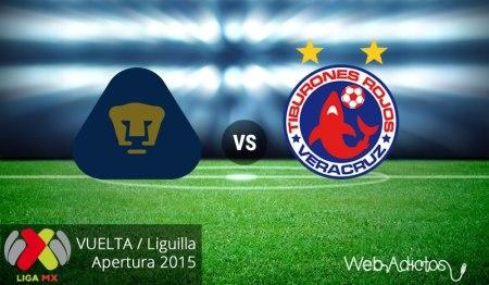 Pumas vs Veracruz, vuelta de la Liguilla del Apertura 2015