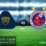 Pumas vs Veracruz, vuelta de la Liguilla del A2015 ¡En vivo por internet!