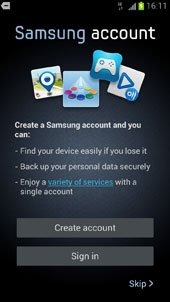 Create Samsung Account