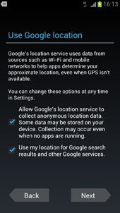 Use Google Location