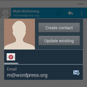 Create Contact Screen