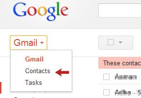 Gmail Drop Down Menu