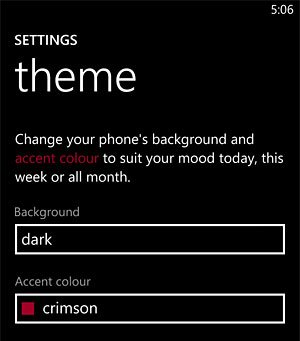 Settings Theme