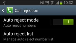 auto reject mode option