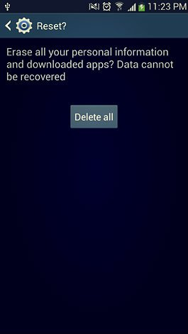 delete all option