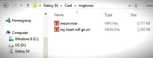 ringtones folder