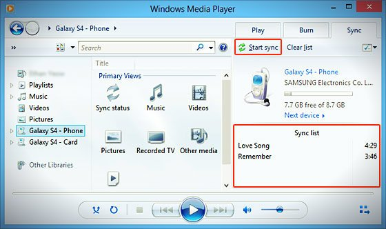 windows media player sync_list