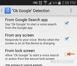 how to allow google to use microphone in samsung s5