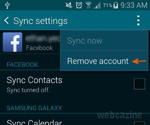how to turn on email sync on galaxy s5