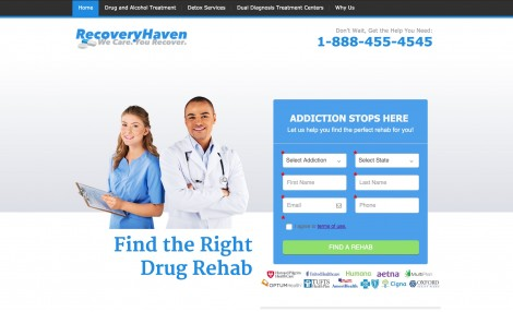 Recovery-Haven-Landing-Page