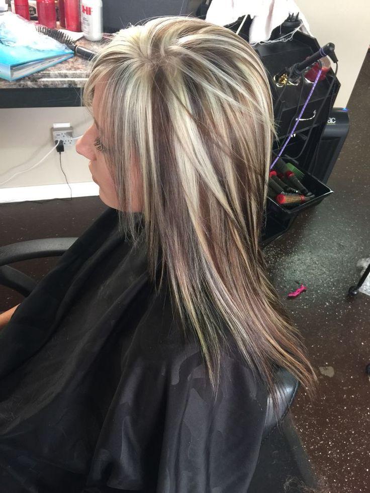 Как сделать темные пряди на светлых волосах