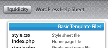 The WordPress Help Sheet