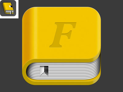 yellow thick fontbook mac osx iOS icon