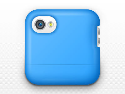 Apple iPhone blue plastic cover otterbox icon