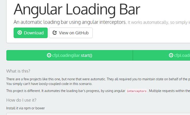 angular loading bar github open source