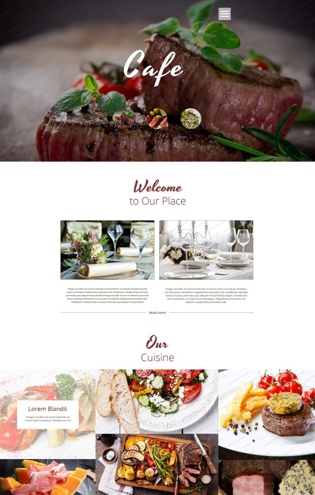 Cafe and Restaurant Free Website Template