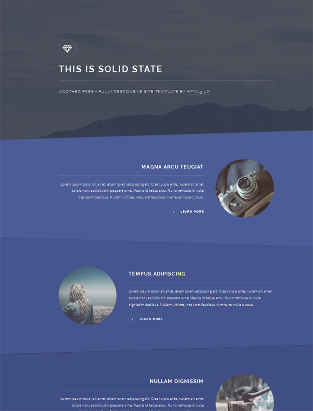 Free HTML5 template - Solid State
