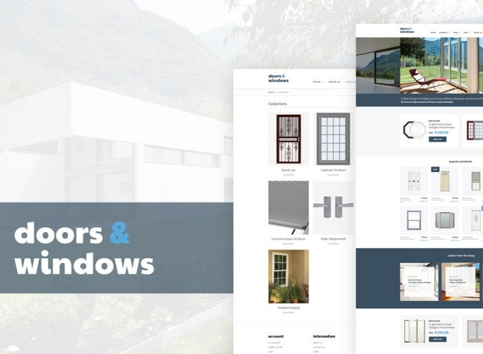 Windows & Doors Responsive Shopify Theme