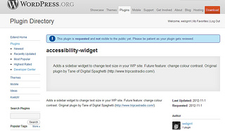Accessibility Widget in WP.org