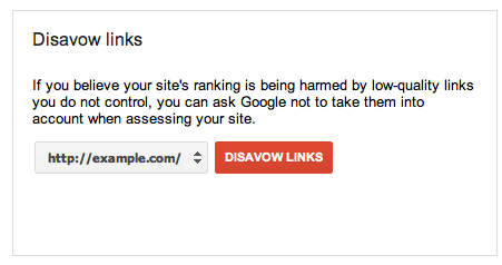 Google Disavow Links tool graphic