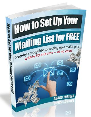 mailing list ebook sidebar