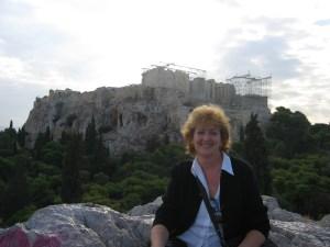 En la Acrópolis de Atenas, marzo 2002.