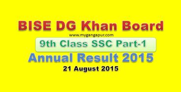BISE DG Khan Board 9th Class annual Exam Result 2015
