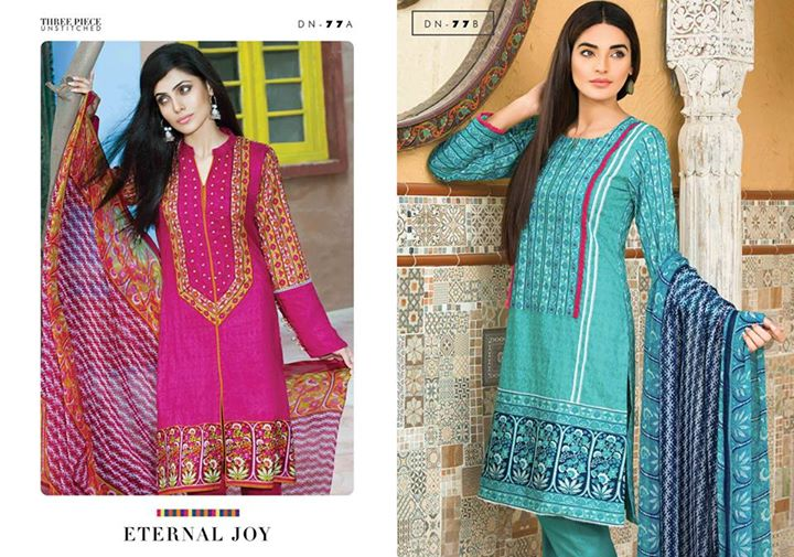 Satrangi Cambric exclusive eid ul Azha Lawn Collection 2015 By Bonanza (2)