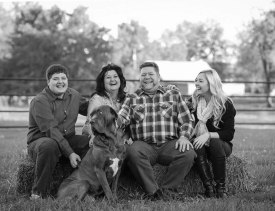 Photo Contributed by Gabrielle Deimeke Gabrielle Deimeke said she takes family photos about three times a year. She took this in the fall of 2013 on a day when temperatures were in the 40s. Her family was not thrilled about the weather, but Deimeke was determined to capture the memory. (From left) Ethan, Lori, Kent and Gabrielle Deimeke.
