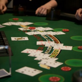 Games at Casino Night included blackjack (pictured above), roulette, craps and poker.  BRIAN VERBARG/The Journal