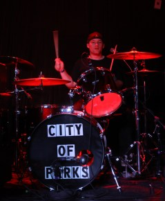 Brian Grubbs performed as a piano-bar drummer before he joined City of Parks. (Photo by Wil Driscoll)