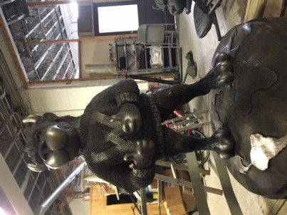 The statue, ready for installation / Contributed photo by Mitch Horstmann