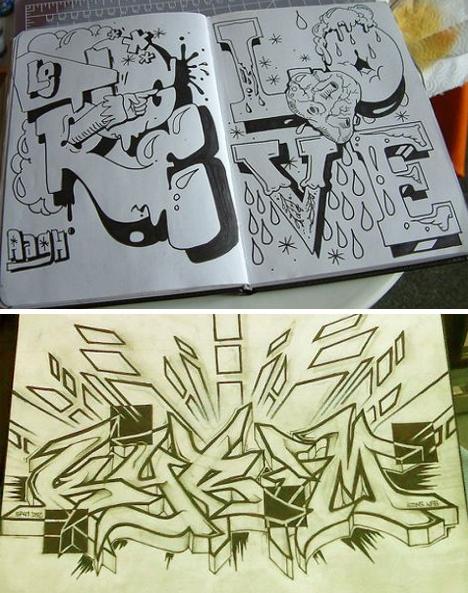 graffiti black books
