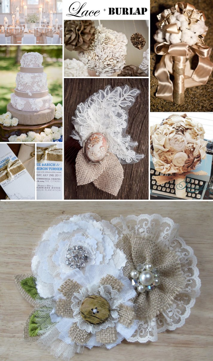 wedding inspiration rustic romance burlap wedding ideas Rustic romance wedding ideas lace and burlap