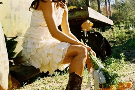 wedding themes country western chic little white wedding dress full