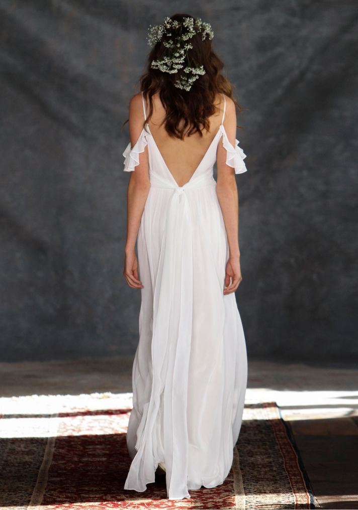 Ceylon Wedding Dress Back from Claire Pettibone s Romantique Collection