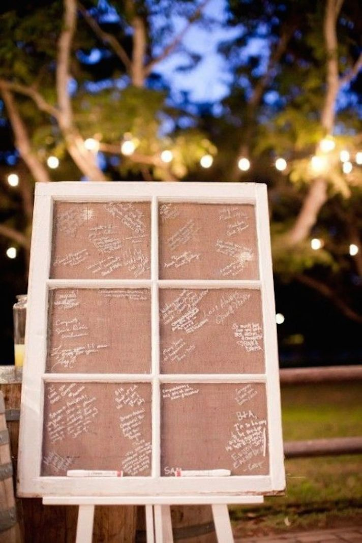 Window Pane Guest Book Alternative