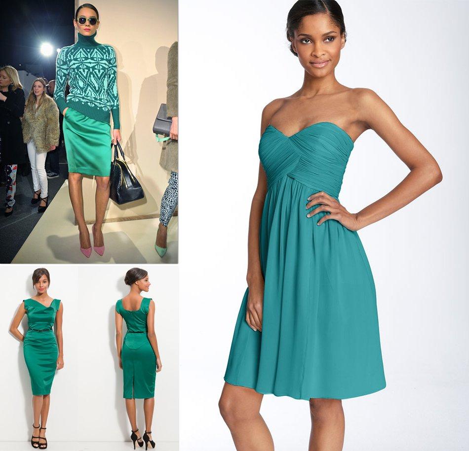 cobalt blue bridesmaids dresses fashion week inspiration teal dresses for wedding