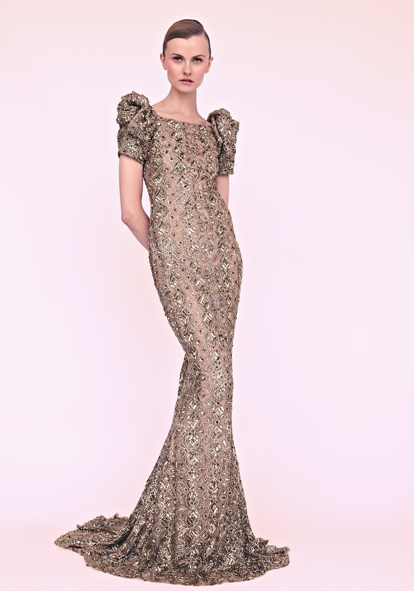 marchesa wedding dress gold gown with pouf sleeves marchesa wedding dress marchesa wedding dress gold gown with pouf sleeves