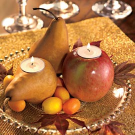 Fruit and Candle Centerpiece