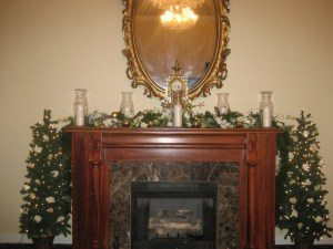 Mantle Decor for December Wedding