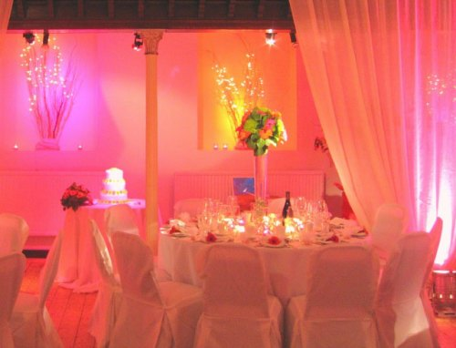 Soft Pink Lit Walls